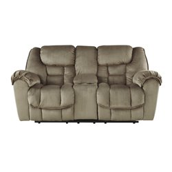 Ashley Jodoca Glider Power Reclining Loveseat in Driftwood