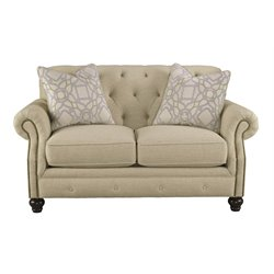 Ashley Kieran Loveseat in Natural