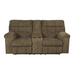 Ashley Antwan Reclining Loveseat with Console in Truffle