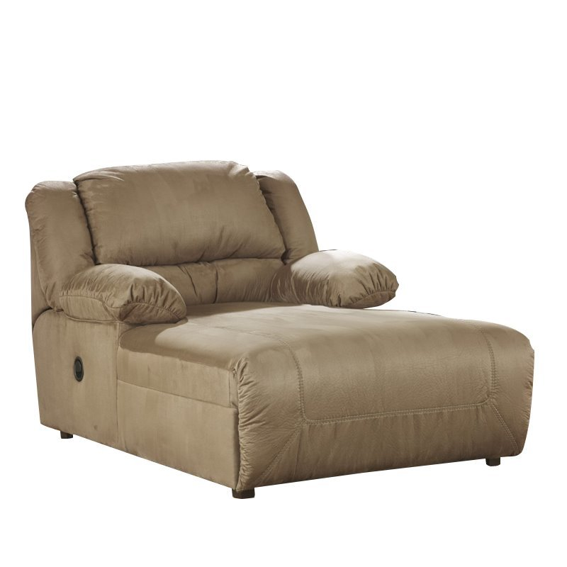 ashley hogan press back chaise in mocha 5780204