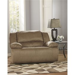 Ashley Hogan Zero Wall Wide Seat Recliner in Mocha
