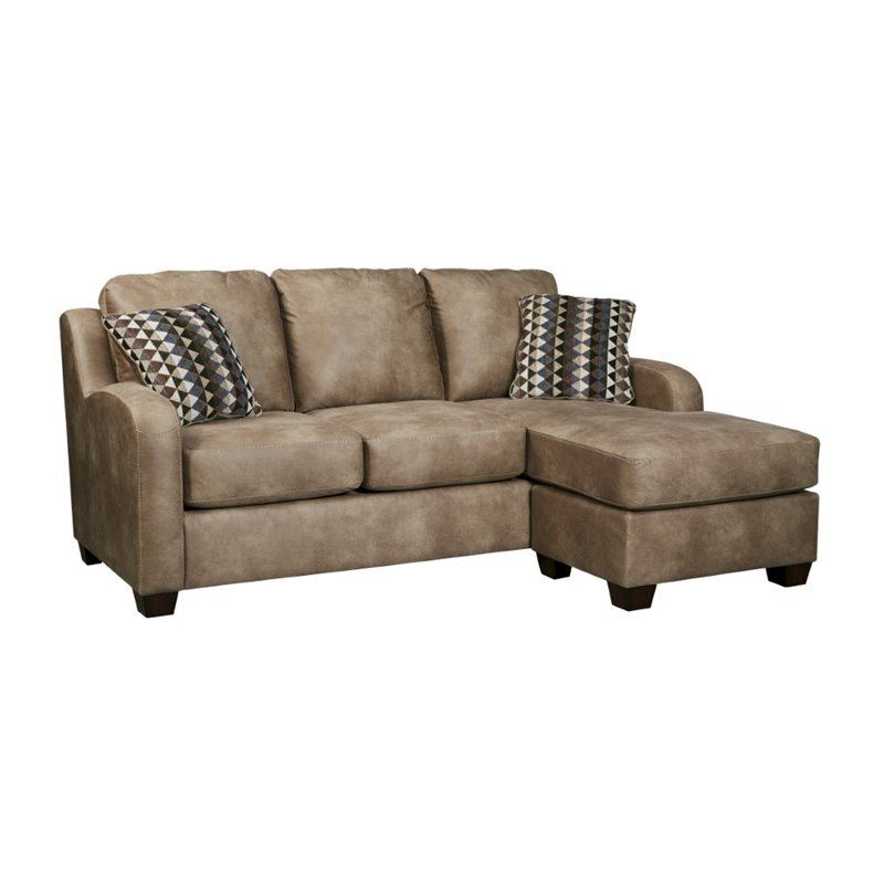 ashley alturo sofa faux leather chaise in dune 6000318