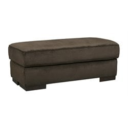 Ashley Bisenti Ottoman in Chocolate