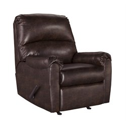 Ashley Talco Faux Leather Rocker Recliner in Burgundy