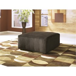 Ashley Vista Oversized Square Ottoman in Chocolate