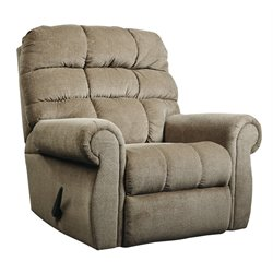 Ashley Edger Rocker Recliner in Oak