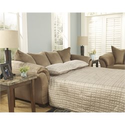 Ashley Darcy Full Sleeper Sofa in Mocha