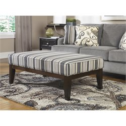 Ashley Yvette Coffee Table Ottoman in Black