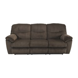 Ashley Slidell Reclining Sofa in Chocolate