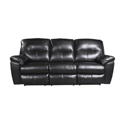 Ashley Kilzer DuraBlend Reclining Leather Sofa in Black