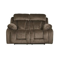 Ashley Stricklin Reclining Loveseat in Chocolate