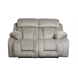 Ashley Stricklin Reclining Loveseat in Pebble