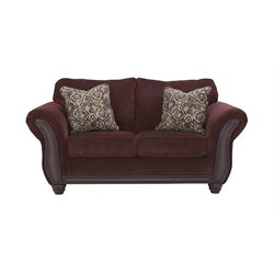 Ashley Chesterbrook Loveseat in Burgundy