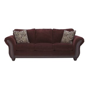 Ashley Chesterbrook Sofa in Burgundy