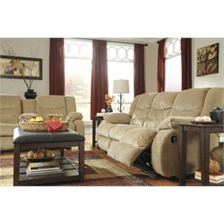 Ashley Garek Reclining Sofa in Sand
