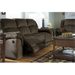 Ashley Quinnlyn Reclining Sofa in Coffee