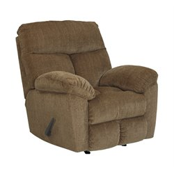 Ashley Hector Rocker Recliner in Caramel