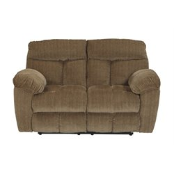 Ashley Hector Reclining Loveseat in Caramel
