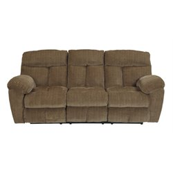 Ashley Hector Reclining Sofa in Caramel