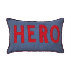 Ashley Amarion Throw Pillow in Blue and Red