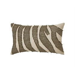 Ashley Akari Throw Pillow in Brown and Cream