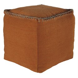 Ashley Caius Cube Pouf in Rust