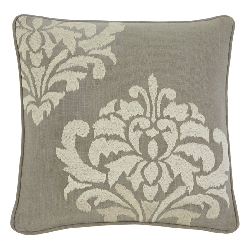 Throw Pillows Damask : Ashley Damask Throw Pillow Cover in Gray - A1000329P