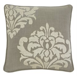 Ashley Damask Throw Pillow Cover in Gray
