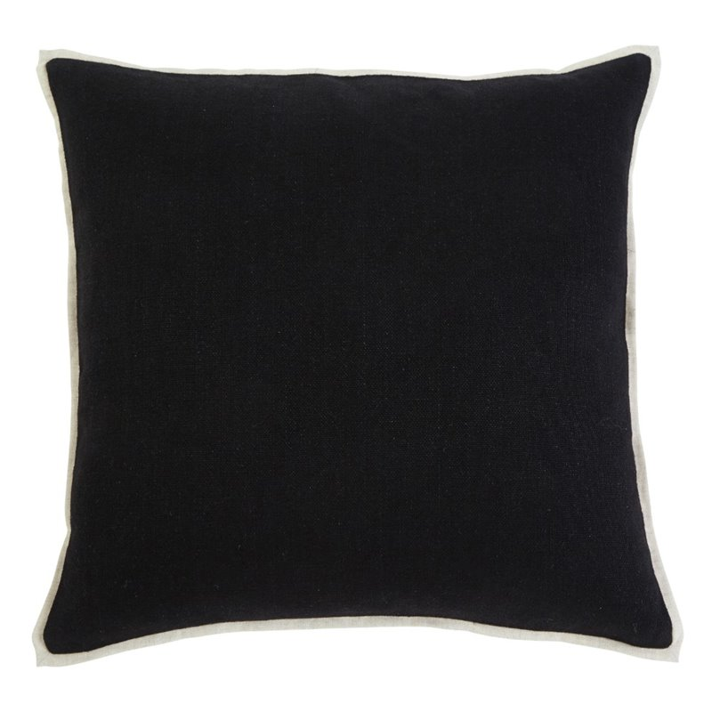 Throw Pillow Covers Set Of 4 : Ashley Solid Throw Pillow Cover in Black (Set of 4) - A1000344