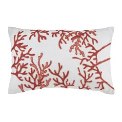 Ashley Cankton Throw Pillow in Coral