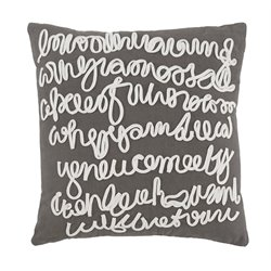 Ashley Alfie Throw Pillow Cover in Gray