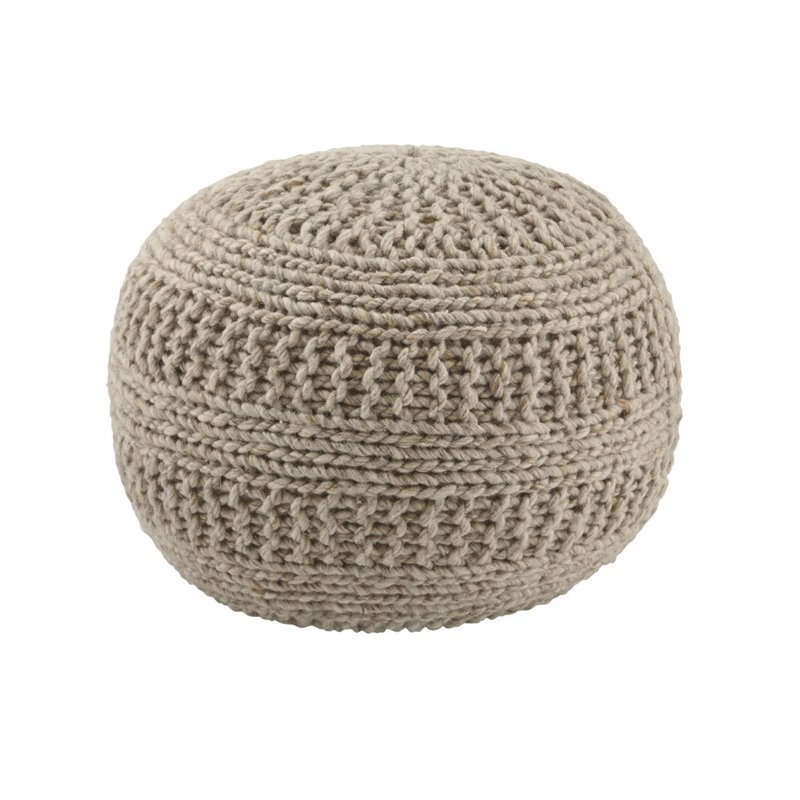 Ashley Furniture Benedict Sphere Pouf in Natural