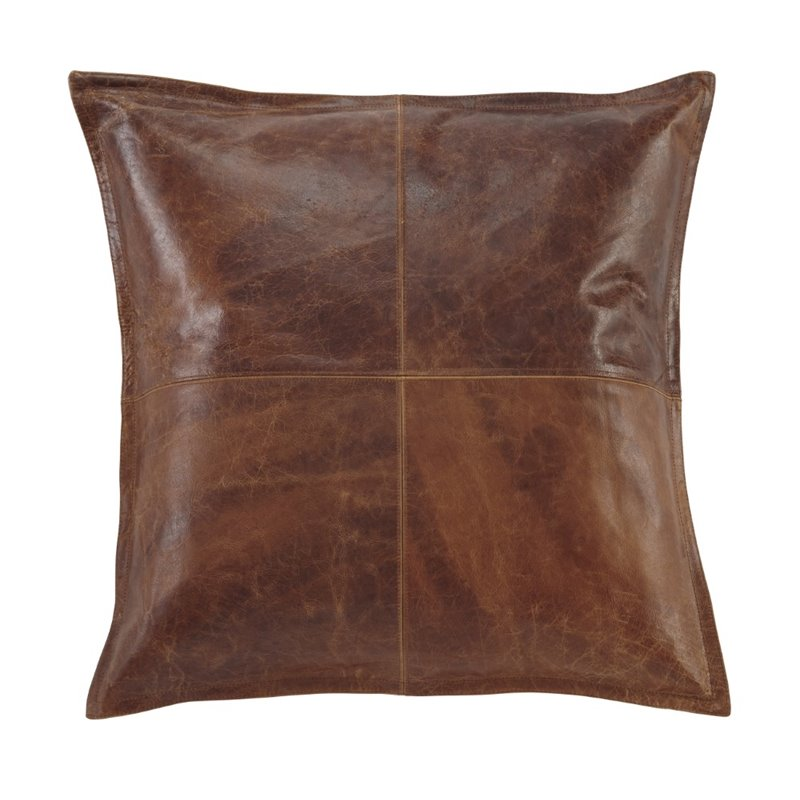 Ashley Brennen Leather Throw Pillow Cover in Brown - A1000637P