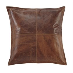 Ashley Brennen Leather Throw Pillow Cover in Brown