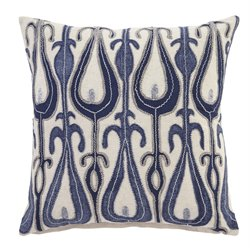 Ashley Arrowsic Throw Pillow Cover in Blue