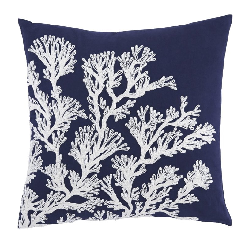 Throw Pillow Covers Set Of 4 : Ashley Aguirre Throw Pillow Cover in Navy (Set of 4) - A1000716
