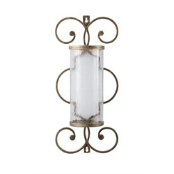 Ashley Oenone Candle Wall Sconce in Antique Gold