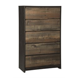 Ashley Windlore 5 Drawer Chest in Dark Brown