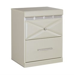 Ashley Dreamur 2 Drawer Night Stand in Champagne