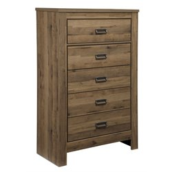 Ashley Cinrey 5 Drawer Chest in Medium Brown