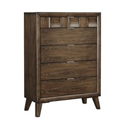 Ashley Debeaux 5 Drawer Chest in Medium Brown