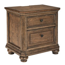 Ashley Maeleen 2 Drawer Night Stand in Medium Brown