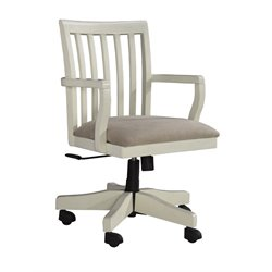Ashley Sarvanny Office Chair in Cream