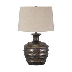 Ashley Kymani Metal Table Lamp in Antique Brass