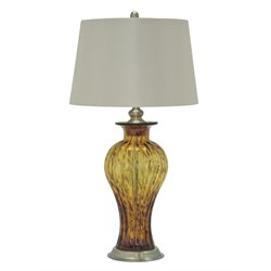 Ashley Ardal Glass Table Lamp in Amber