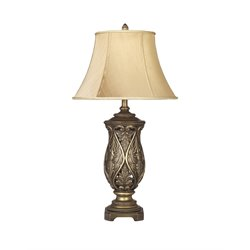 Ashley Katarina Poly Table Lamp in Antique Brass (Set of 2)