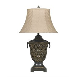 Ashley Redella Poly Table Lamp in Bronze and Gold (Set of 2)