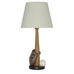 Ashley Avidan Poly Table Lamp in Brown and Cream