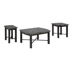 Ashley Otterton 3 Piece Coffee Table Set in Black and Gray