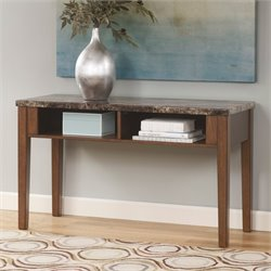 Ashley Theo Console Console Table in Warm Brown